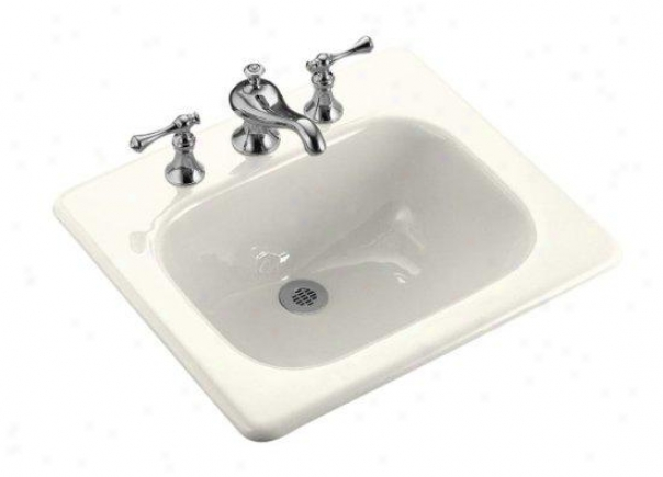 Kohler K-2895-1-96 Tahoe Self-rimming Lavatory With Single Hole Faucet Drilling, iBscuit