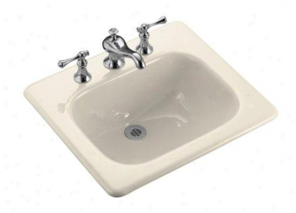Kohhler K-2895 -4-47 Tahoe Self-rimming Lavatory With 4 Centers, Almond