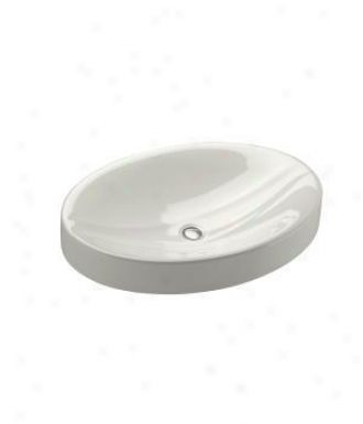 Kohler K-2952-n-hw1 Strela Vanity Top Lavatory Without Overflow, Honed White