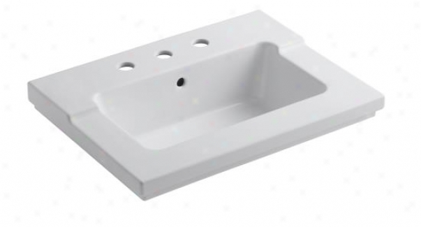 Kohler K-2979-1 Tresham One-piece Surface And Integrated Lavatory With Single-hlpe Faucet Drilling,