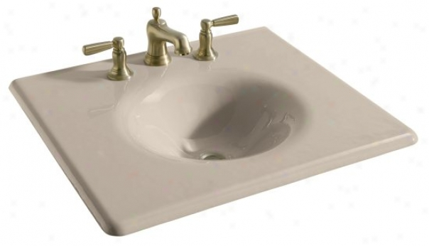 Kohler K-348-8-55 Iron/impressions 25 Cast Iron One-piece Surface And Integrated Lavatory With 8