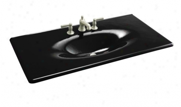 Kohler K-3052-1-7 Iron/impressions 43 Cast Iron Ohe-piece Surface And Integrated Lavatory With Sing