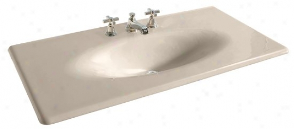 Kohler K-3052-8-55 Iron/impressions 43 Cast Iron One-piece Surface And Integrated Lavatory With 8