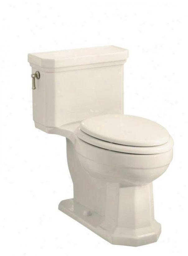 Kohler K-3324-47 Kathryn Comfort Height One-piece Elomgated Toilet, Less eSat, Almond