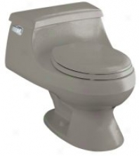 Kohler K-3386-k4 Rialto One-piece Round-front Toilet Upon Seat And Left-hand Tril Lever, Cashmere