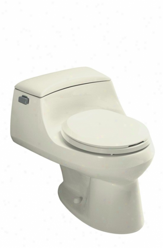 Kohler K-3467-96 San Raphael One-piece Round-front Toilet With Convealed Trapway, Seat And Trip Leve