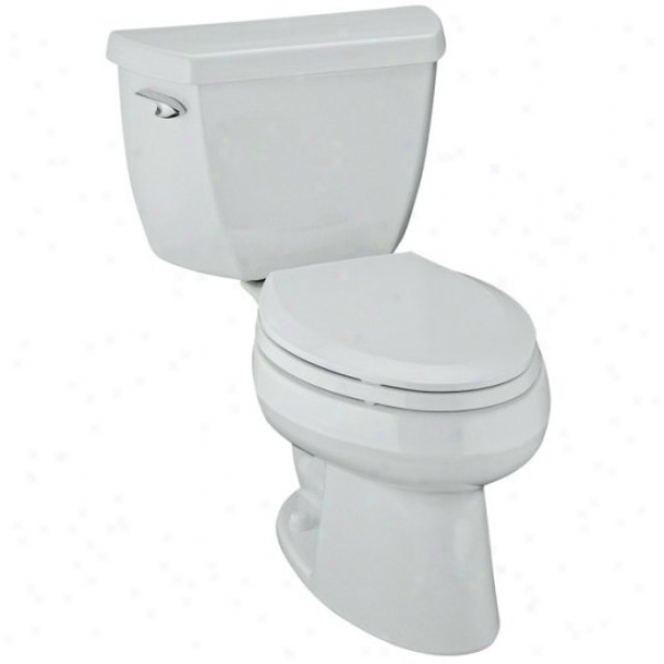 Kohler K-3505-0 Wellworth Classic Pressure Lite Elongated 1.4 Gpf Toilet, Less Seat, Happy