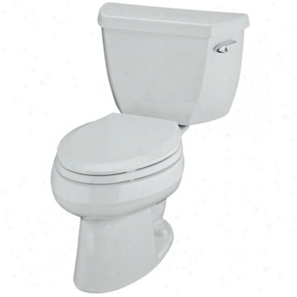 Kohler K-3505-ra-0 Wellworth Pressure Lite Elongated 1.4 Gpf Toilet With Right-hand Trip Lever, Less