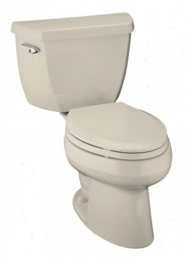 Kohlee K-3505-t-47 Wellworth Pressure Lite Elongated Toilet With Tank Locks, Almond