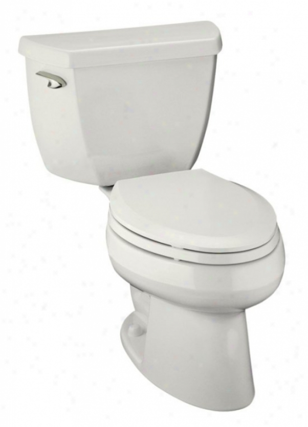 Kohler K-3531-t-0 Wellworth Pressure Lite Elongated 1.0 Gpf Toilet With Tank Cover Locks And Left-ha