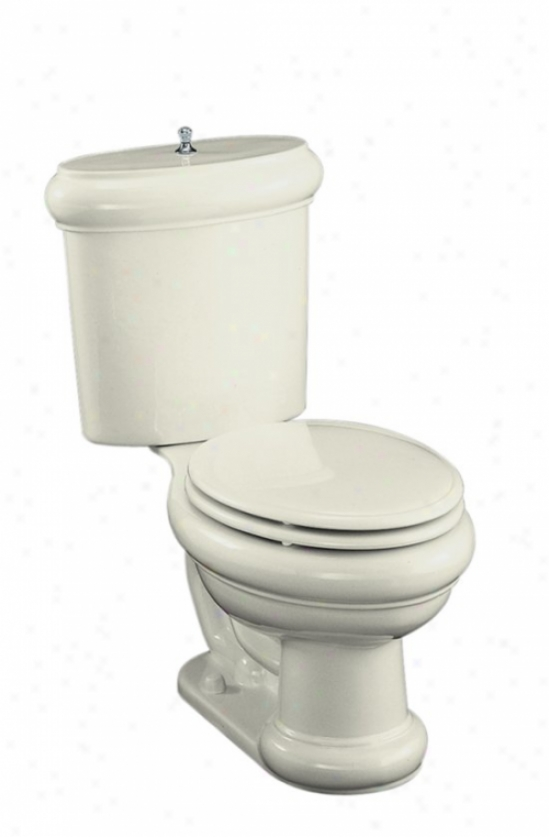 Kohler K-3555-af-96 Revival Two-piece Elongated Toilet With Seat, Vibrant French Gold Flush Actuator