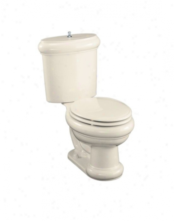 Kohler K-3555-un-47 Revival Two-piece Elongatee Toilet With Seat, Vibrant Brushed Nickel Flush Actua