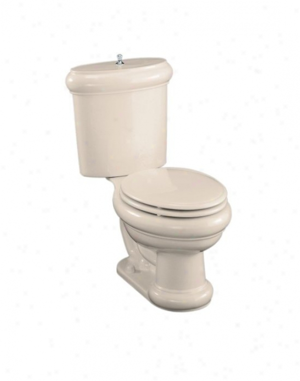 Kohler K-3555-un-55 Revival Two-piece Elongsted Toilet With Seat, Vibrating Brushed Nickel Fluah Actua
