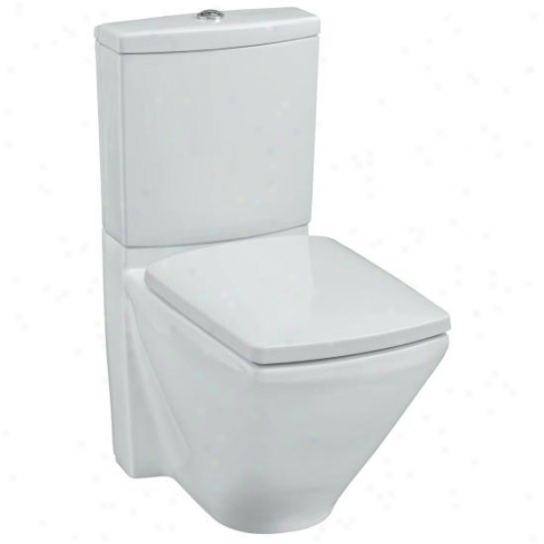 Kohler K-3588-0 Escalee Two-piece Elongated Toilet With Seat, White