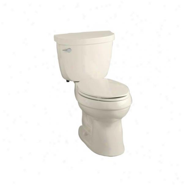 Kohler K-3609-47 Cimarron Support Height Elongated 1.28 Gpf Toilet With Arrange Six Tehcnology And Lef