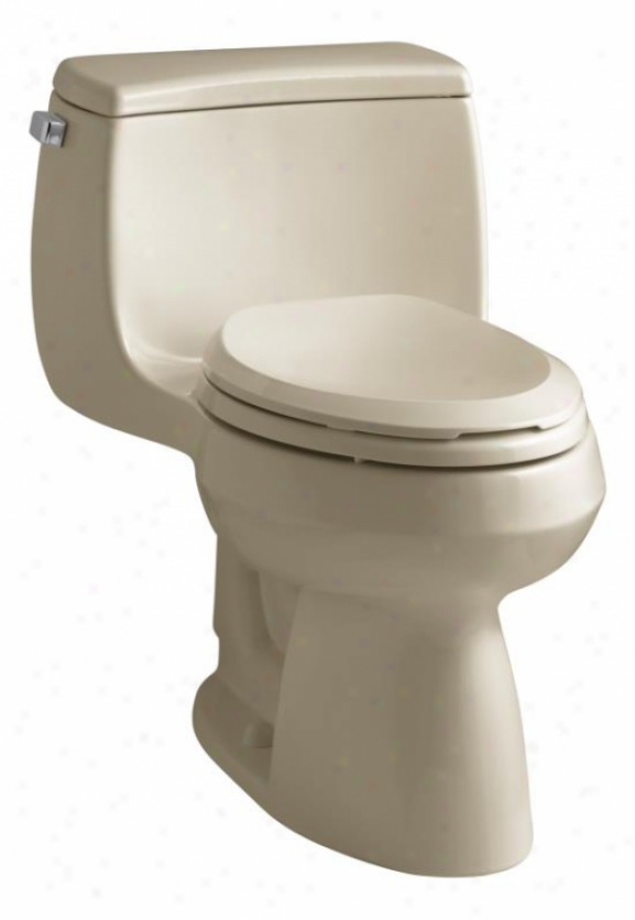 Kohler K-3615-33 Gabrielle Comfort Height One-piece Compact Elongated 1.28 Gpf Toilet, Mexican Sand