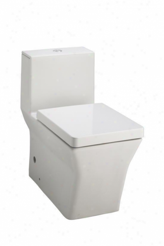 Kohler K-3797-O Rãƒâºve Elongated One-piece Toilet With Dual Flush Technology, White