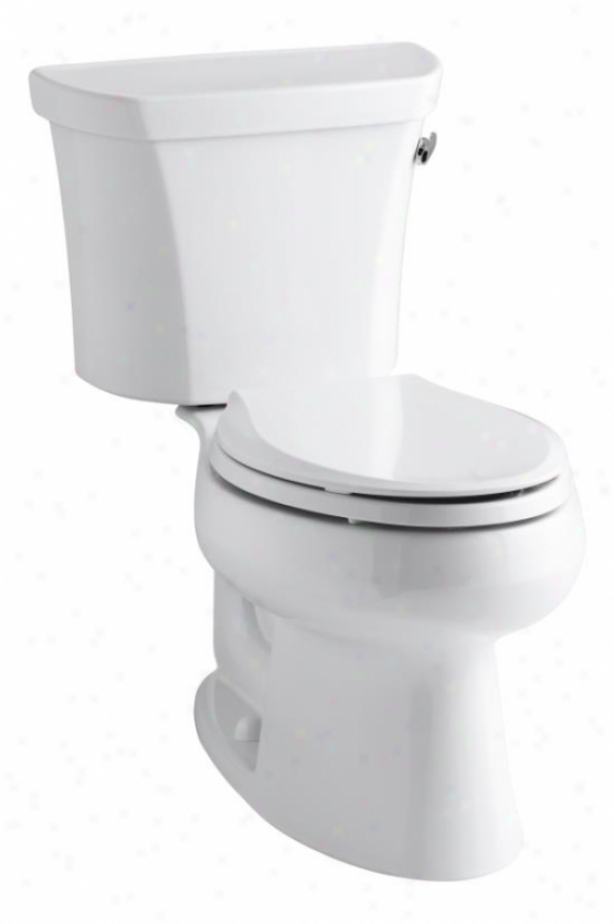 Kohler K-3978-tr-7 Wellworth Elongated 1.6 Gpf Toilet, Right-hand Trip Lever, Tank Locks, Black Blac