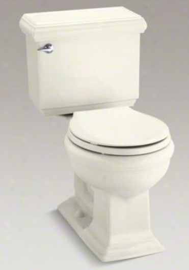 Kohler K-3986-96 Memoirs Classic Comfort Height Two-piece Round-front 1.28 Gpf Toilet, Biscuit