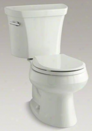 Kohler K-3997-u-ny Wwllworth Round-front 1.28 Gpf Toilet, Right-hand Skip Lever, Insuliner, Dune