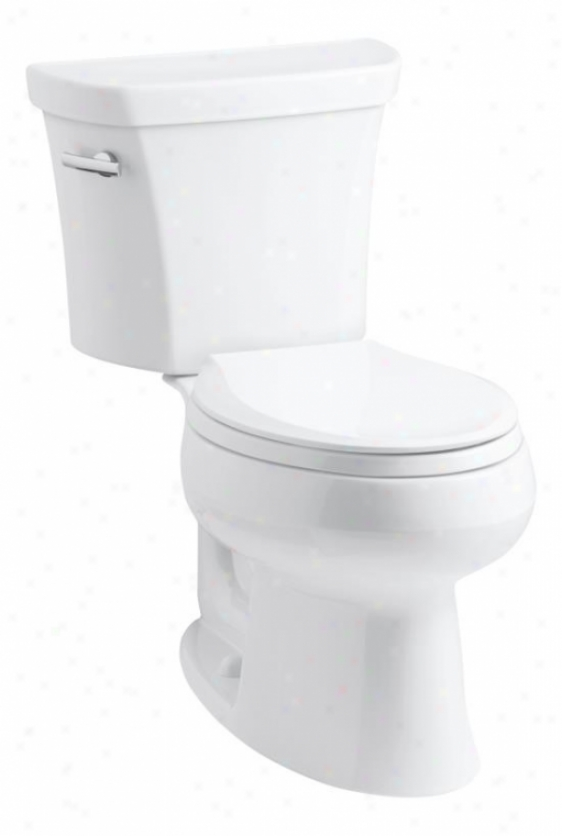 Kohler K-3998-rz-g9 Wellworth Elongated 1.28 Gpf Toilet, Right-hand Trip Lever, Insuliner, Tsnk Lock