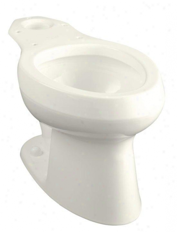 Kohler K-4303-96 Wellworth Pressure Lite Elongated Toilet Bowl, Less Seat, Biscuit
