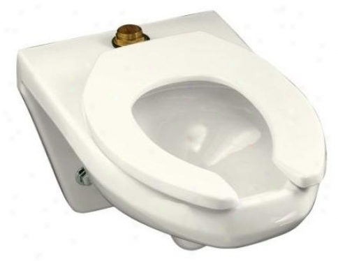 Kohler K-4330-l-96 Kingston Wall-hung Bowl With Rise to the ~ of Spud And Bedpan Lugs, Less Seat, Biscuit
