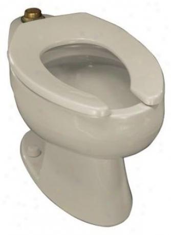 Kohler K-4350-l-7 Wellcomme Elojgated Toilet Bowl With Top Spud And Bolt Holes In Base, Black