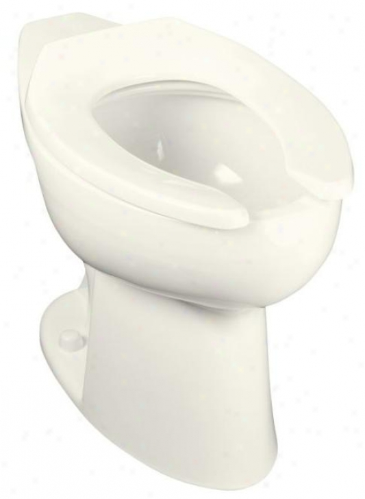 Kohler K-4367-96 Highcliff Elongated Toilet Bowl With Rear Spud, Biscuit