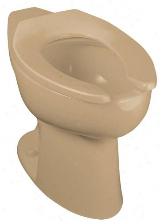 Kohler K-4367-p-33 Highcliff Elongated Toilet Bowl With Rear Spud And Bedpaan Lugs, Mexican Sand