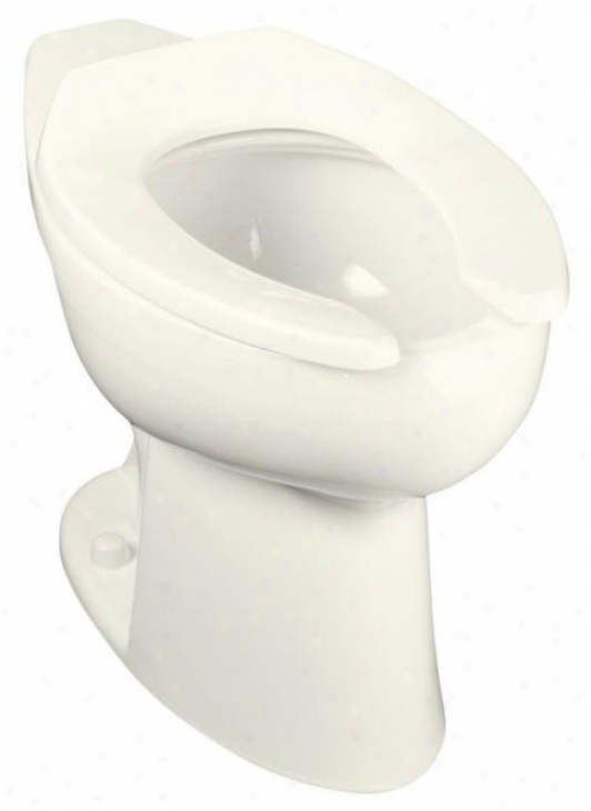 Kohler K-4367-l-96 Highcliff Elongated Toilet Bowl With Rear Spud And Bedpan Lugs, Biscuit