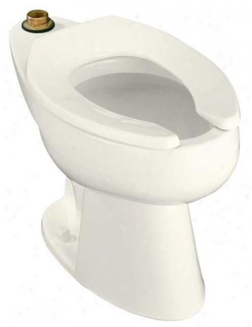 Kohler K-4368-l-96 Highcliff Elongated Toilet Bowl With Top Spud And Bedpan Lugs, Biscuit