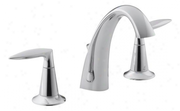 Kohler K-45102-4-cp Alteo Two Handle Widespread Lavatory Faucet, Burnished Chrome