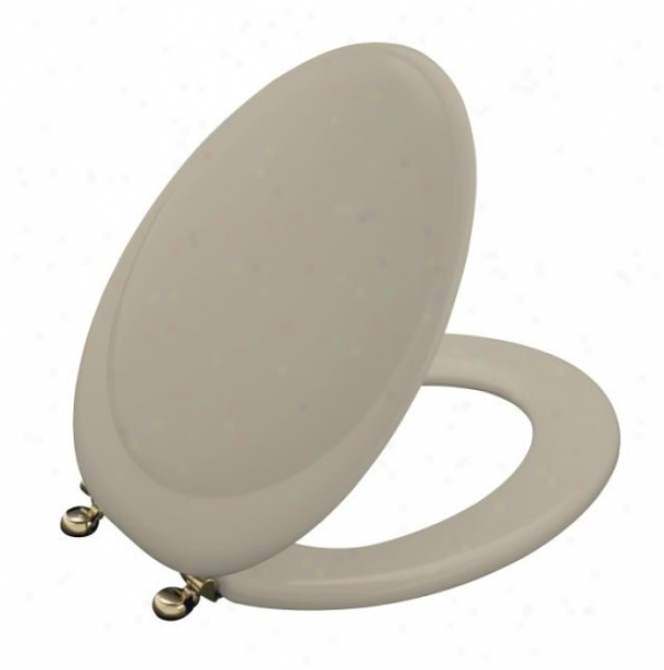 Kohler K-4615-af-g9 Revival Toilet Seat With Vibrant French Gold Hinges,_Sandbar