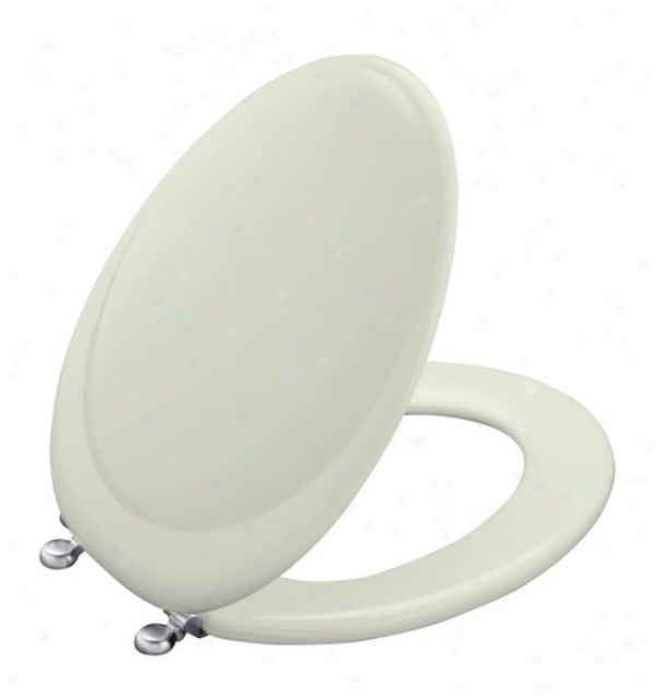 Kohler K-4615-g-ng Revival Toilet Seat With Brushed Chrome Hinges, Tea Gren