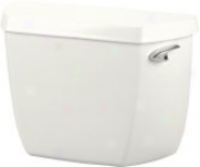 Kohler K-4621-ra-0 Wellworth Toilet Tank In the opinion of Right-hand Trip Lever, White