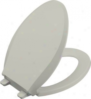Kohler K-4636-95 Cachet Elongated Toilet Seat With Q3 Advantage, Ice Grey