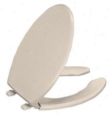 Kohler K-4650-g9 Lustra Elongated Open-front Toilet Seat, Sandbar