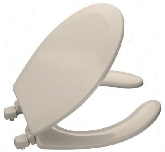 Kohler K-4660-55 Lustra Round Open-front Toilet Seat, Innocent Blush