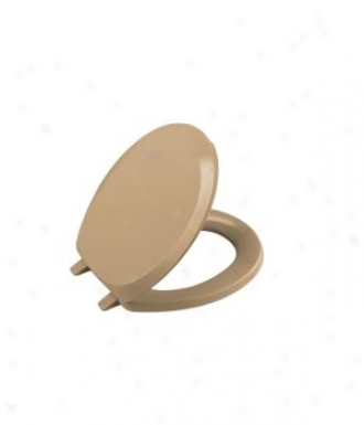 Kohler K-4663-33 French Curve Round Toilet Seat, Mexican Sand