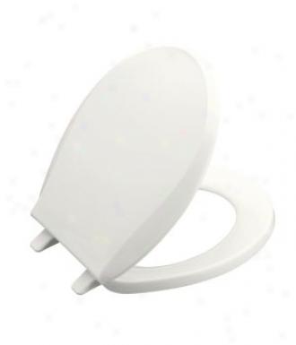 oKhler K-4689-0 Cachet Round Toilet Seat, White