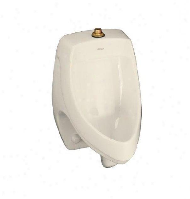 Kohler K-5016-et-47 Dexter Elongated Urinal With Top Spud, Almond