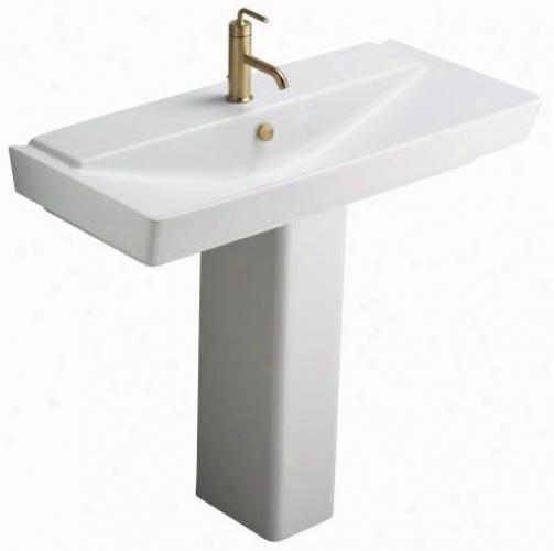 Kohler K-5032-0 Reve Pedestal, White