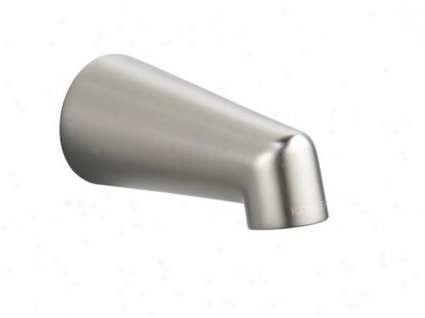 Kohler K-6854-bn Standard Non-diverter Bath Ajutage, Vibrant Brushed Nickel