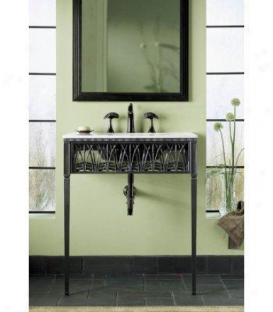 KohlerK -6890-p5 Cattails Iron Console Table Legs/apron/frame, Iron Black