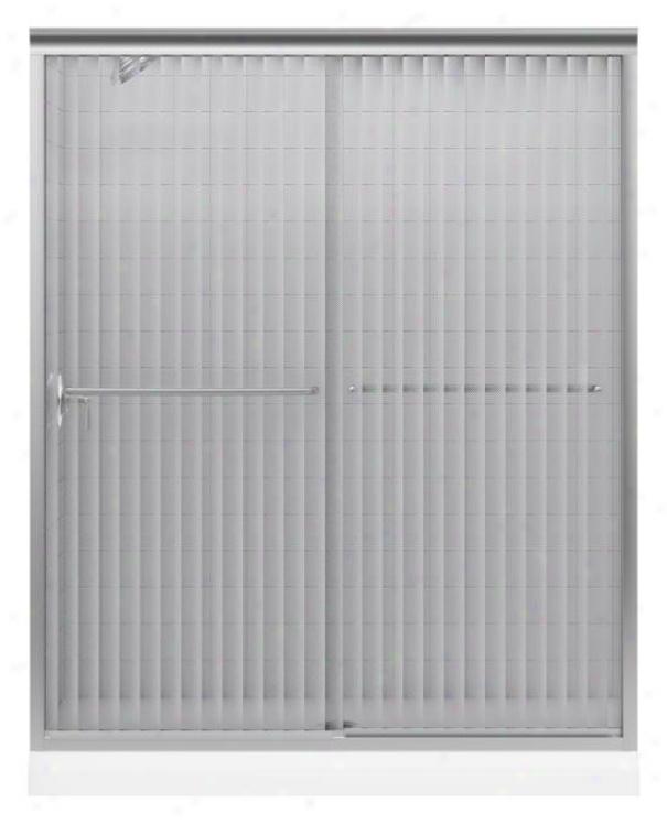 Kohler K-702204-g54-mx Fluence Frameless Bypass Bath Shower Doro Attending Falling Lines Glass, Matte Nic