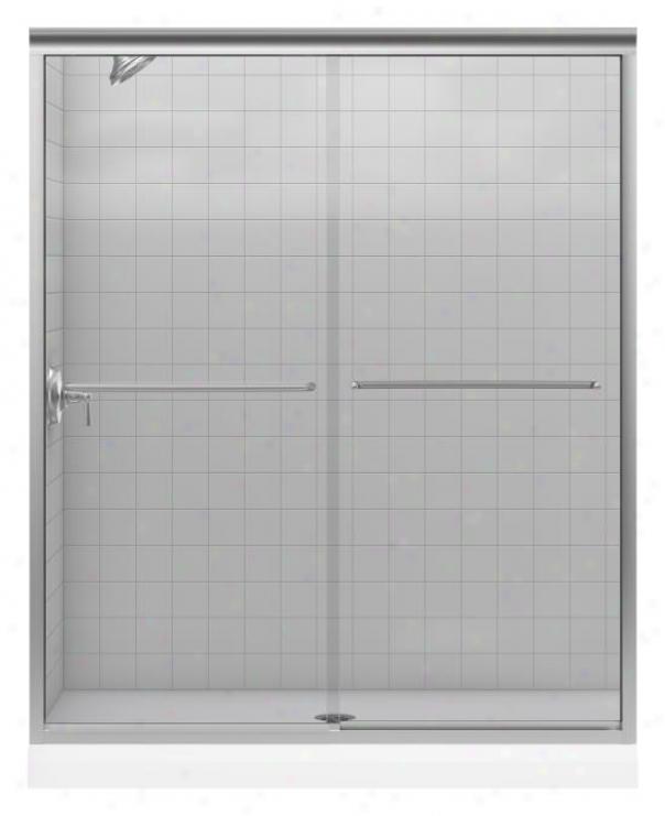 Kohler K-702206-l-mx Fluence Frameless Bypass Shower Door With Crystal Clear Glass, Matte Nickel