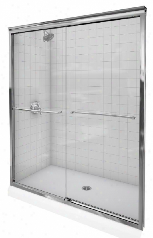 Kohler K-702209-l-nx Fluence 3/8 Thick Glass Bypass Shower Door, Brushed Nickel