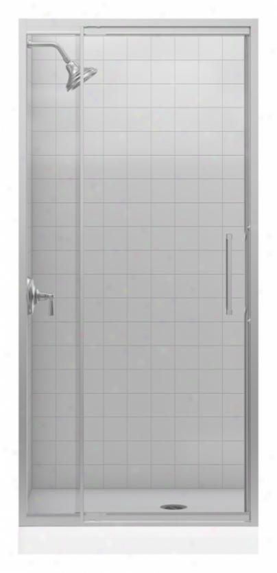 Kohler K-705802-l-nx Lattis 1/4 Glass Thickness Pivot Door,B rushed Nickel