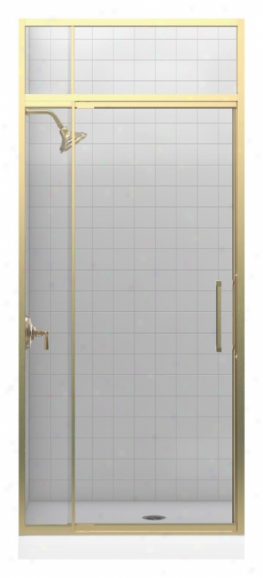 Kohler K-705805-l-abv Lattis 1/4 Pivot Door With Transom, Anodized Brushed Bronze